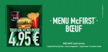 MENU McFIRST à 4,95€