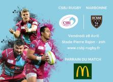 Parrain du Match CSBJ - Narbonne