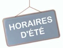 HORAIRES ETE