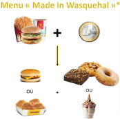"""Menu étudiant """"Made In Wasquehal"""""""