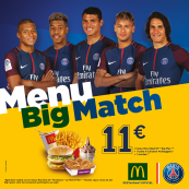 MENU BIG MATCH/PARIS SAINT-GERMAIN
