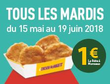 La boîte de 4 Nuggets à 1€ !