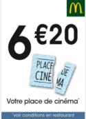 Votre place de cinéma à 6€20