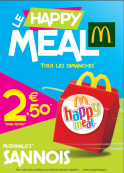 HAPPY MEAL à 2,50€