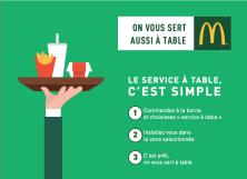 Profitez du service à table!!!