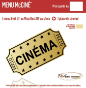 menu cinema