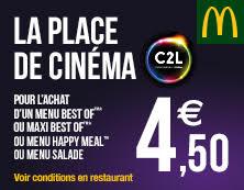 Retour du menu McCiné !