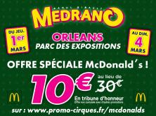 OFFRE MCDO - CIRQUE MEDRANO