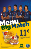 RESTAURANT OFFICIEL PSG: Menu BIG Match