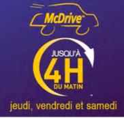 McDRIVE ouvert jusqu'à 4H