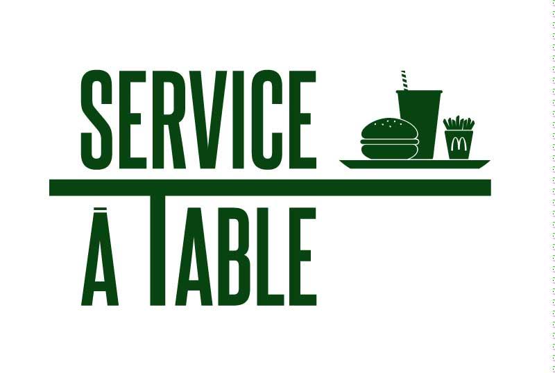 Venez découvrir le SERVICE A TABLE...