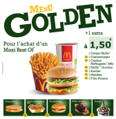 Menu Golden: le retour !