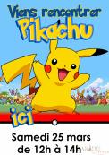 Pikachu le samedi 25 mars à 12h !