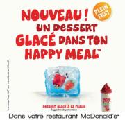Dessert glacé dans le Happy Meal !