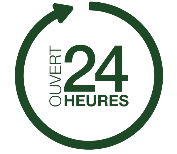 Ouvert 24h/24