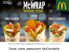 Le retour du McWrap Chèvre