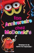 Ton anniversaire au McDo™ d'Andelat !