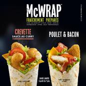 Le McWrap™ Crevette est de retour !