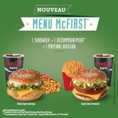Nouveau menu McFirst à 4€95