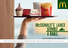 Service à table
