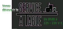 Le Service à Table