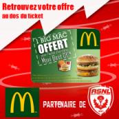 McDonald's™partenaire de l'ASNL