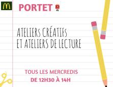 Ateliers créatifs et de lecture !