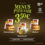 Menu p'tite faim à 3,50 € seulement !