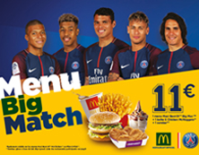 MENU BIG MATCH / PARIS SAINT-GERMAIN