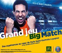 Grand Jeu Big Match avec le PSG