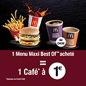 Offre café à 1€