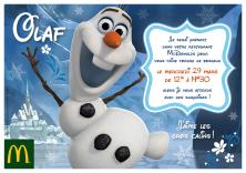 Mercredi 29 mars, viens rencontrer Olaf !
