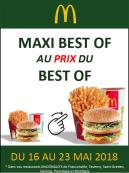 MENU MAXI BEST OF AU PRIX DU BEST OF