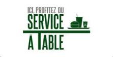 LE SERVICE A TABLE