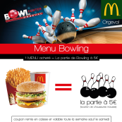 Menu Bowling