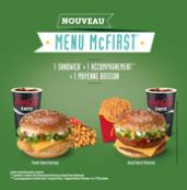 Menu McFirst de McDonald's™