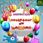 UN SCULPTEUR DE BALLONS LE 29/11 A 12H !
