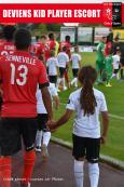 Players escort