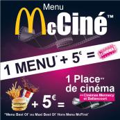 Menu McCiné