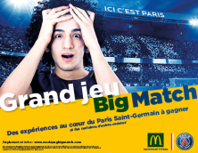 GRAND JEU BIG MATCH  PARIS SAINT-GERMAIN
